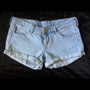 H&M Denim Shorts Light Blue